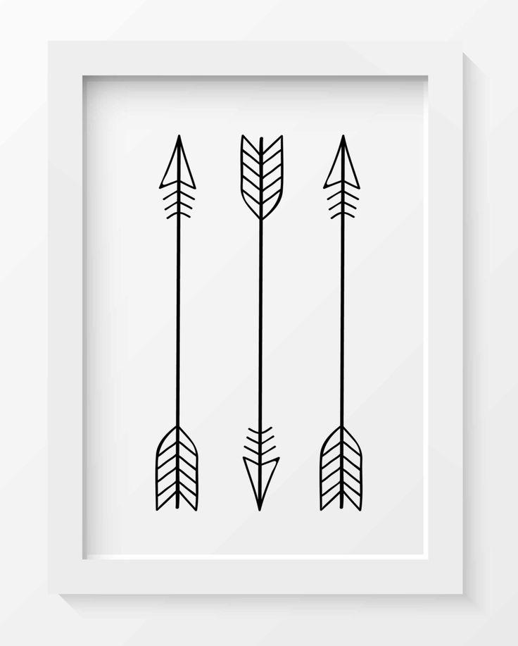Arrow Print Tribal Arrow Art Whimsical Art Print Tribal Nursery Decor Minimalist Art Print Arrow Printable Printable Home Decor