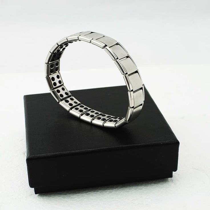 Gift Titanium Steel Germanium Health Bracelet Power Nano Energy Magnetic Balance