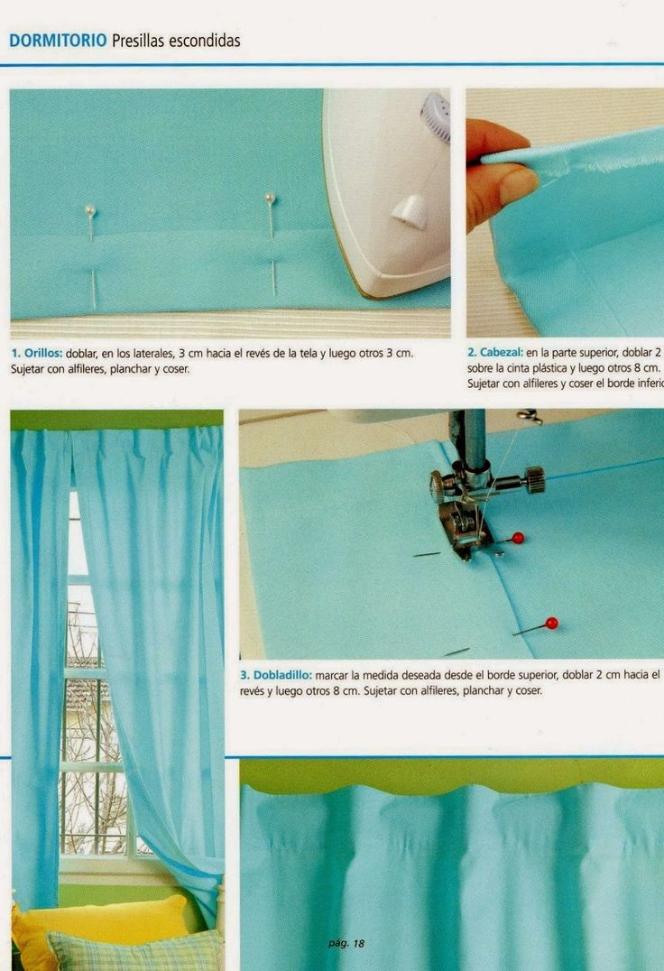 14 best como hacer cortinas images on pinterest curtains for Como hacer cortinas corredizas