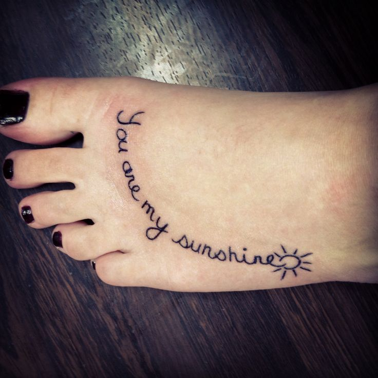 'You Are My Sunshine' Tattoo In Mom's Handwriting!