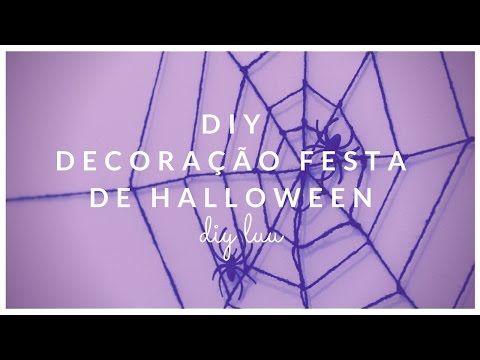 DIY Decoração simples para festas de Halloween | diyluu - YouTube