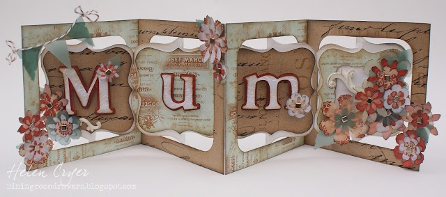Sizzix Accordion Album, styled to perfection by Helen Cryer. The Dining Room Drawers: Mother's Day Card