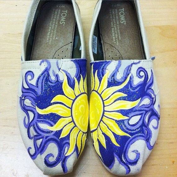 Hand Painted Custom Shoes TOMS Vans Converse by TomorrowsArtist