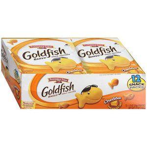 Pepperidge Farm: Goldfish Cheddar Baked Snack Packs Crackers, 12 Oz