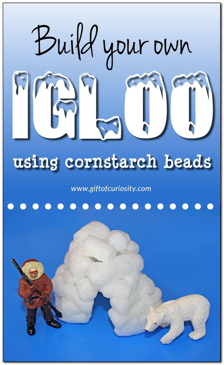 Igloo craft using cornstarch beads - Gift of Curiosity