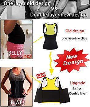 1931acfc2a750 LODAY Womens Shapewear Weight Loss Neoprene Sauna Sweat Waist Trainer Corset  Tank Top Vest Sport Workout Slimming Body Shaper (Black(Underwear Vests