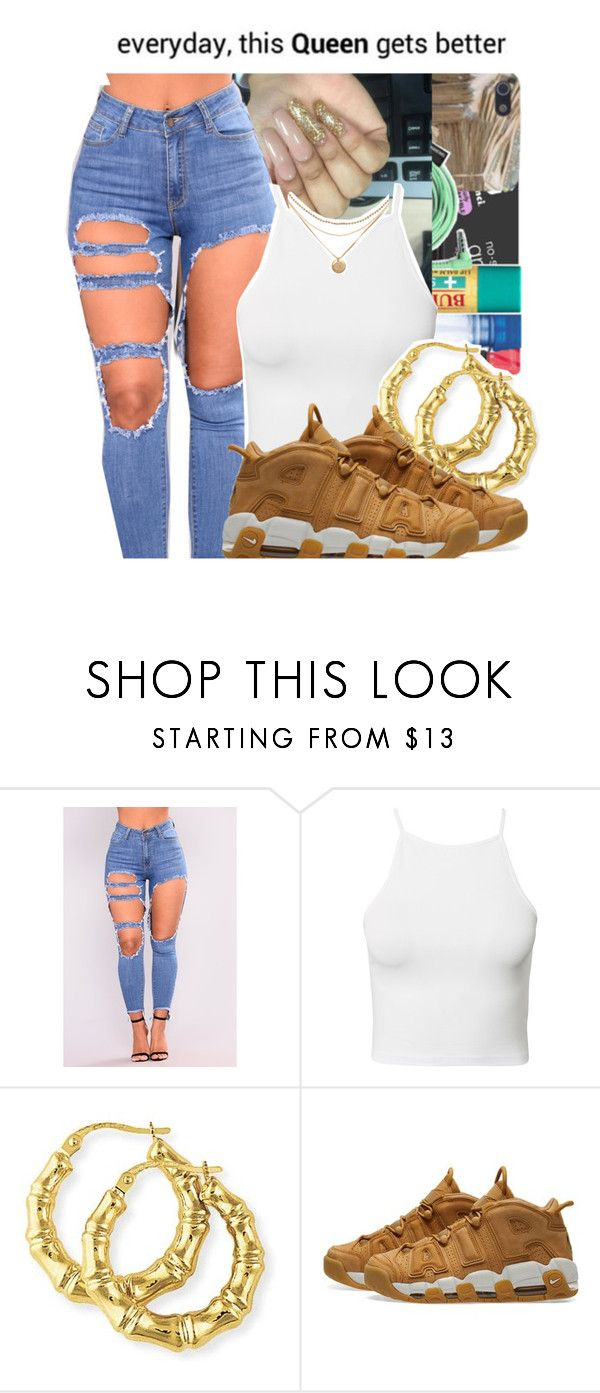 """yahh she khold "" by cliipz ❤ liked on Polyvore featuring NLY Trend and NIKE"