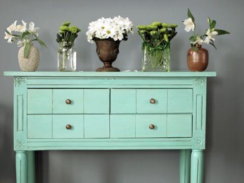 Wohnzimmer, Beispiel Wandfarbe (mint)