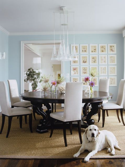 107 best images about dining room or breakfast area on for Light blue dining room ideas