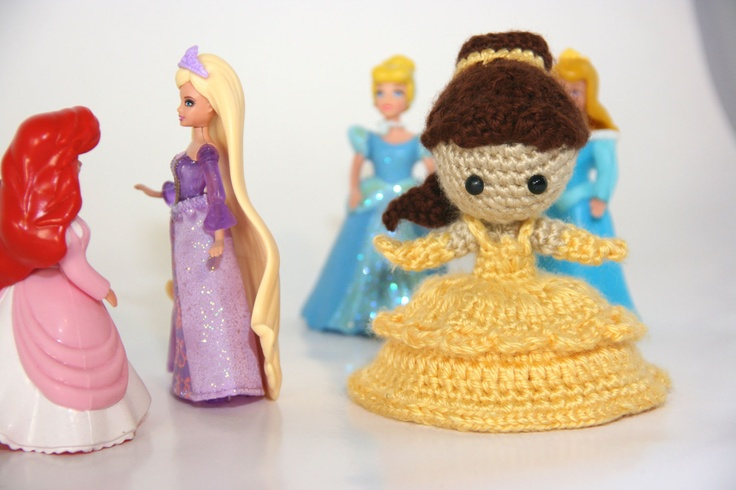 Amigurumi Disney Princess : PATTERN Belle Beauty and the Beast Disney Princess Crochet ...
