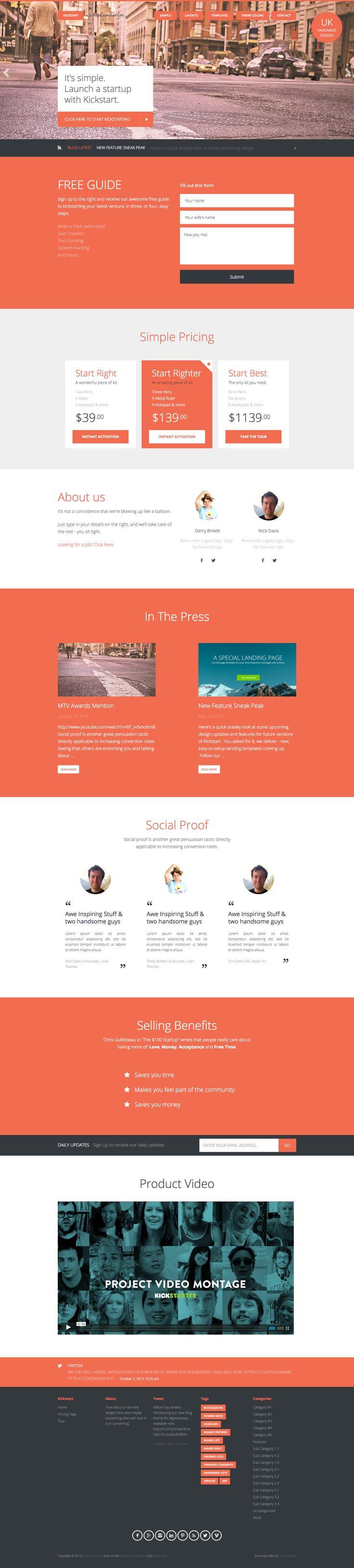 Kickstart by Lean Themes