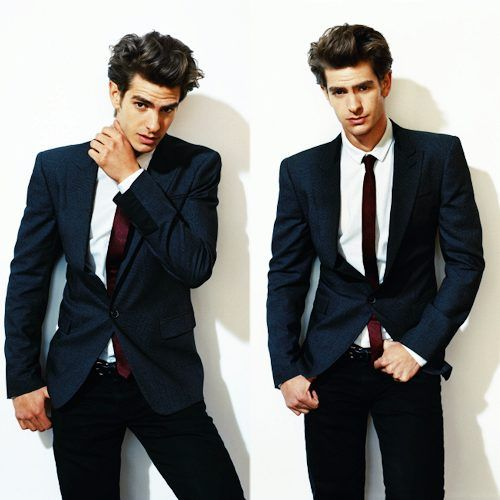 Andrew Garfield. look good in a suit or the spiderman suit.