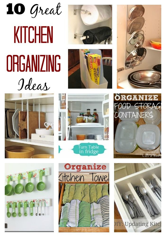 10 Great Kitchen Organizing Ideas!  LuvaBargain.com