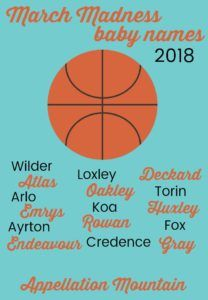 These are the #boynames competing in March Madness Baby Names 2018. Can't wait to see which one takes home the #babynames crown this season!
