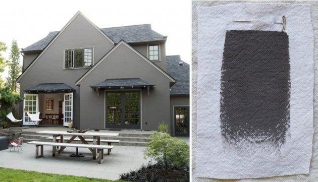 Best Exterior Gray Outdoor House Paint Color, Benjamin Moore Bear Creek, Gardenista