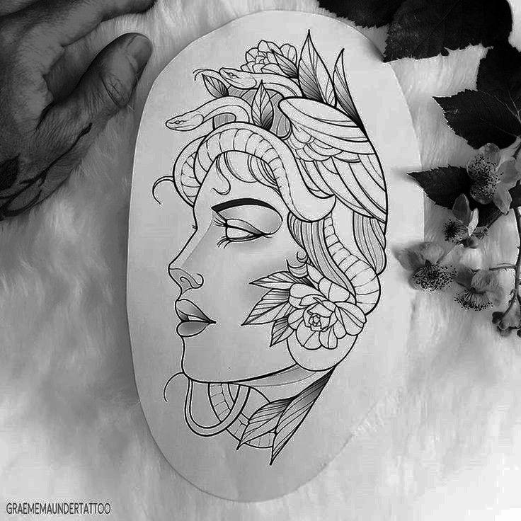 Medusa Tattoo Design, Tattoo Design Drawings, Tattoo Sketches, Tattoo Designs, Tattoo Artists Near Me, Famous Tattoo Artists, Female Tattoo Artists, Face Tattoos For Women, Tattoos For Guys