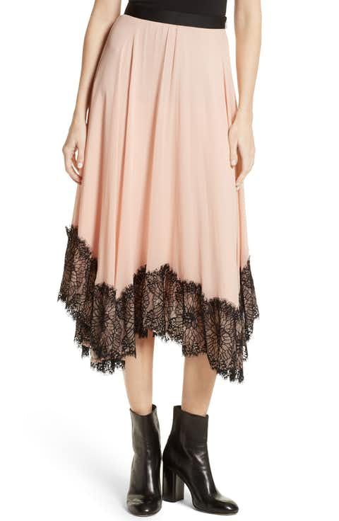 Cinq à Sept Kaya Lace Hem Skirt