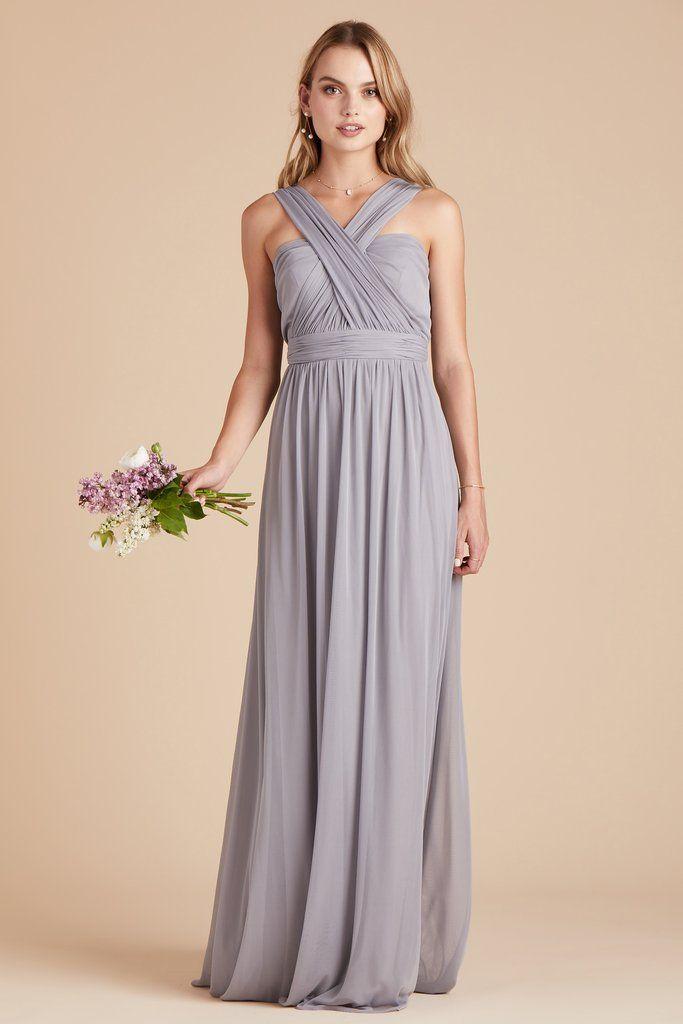 51162b194816 Birdy Grey Bridesmaid Dress Under  100 - Chicky Convertible Dress - Silver  - Lightweight Stretch Mesh