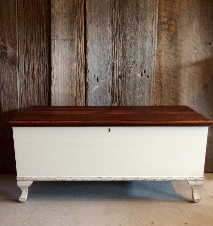 Cedar lined chest painted in Fusion Mineral Paint Limestone dark waxed and lightly distressed