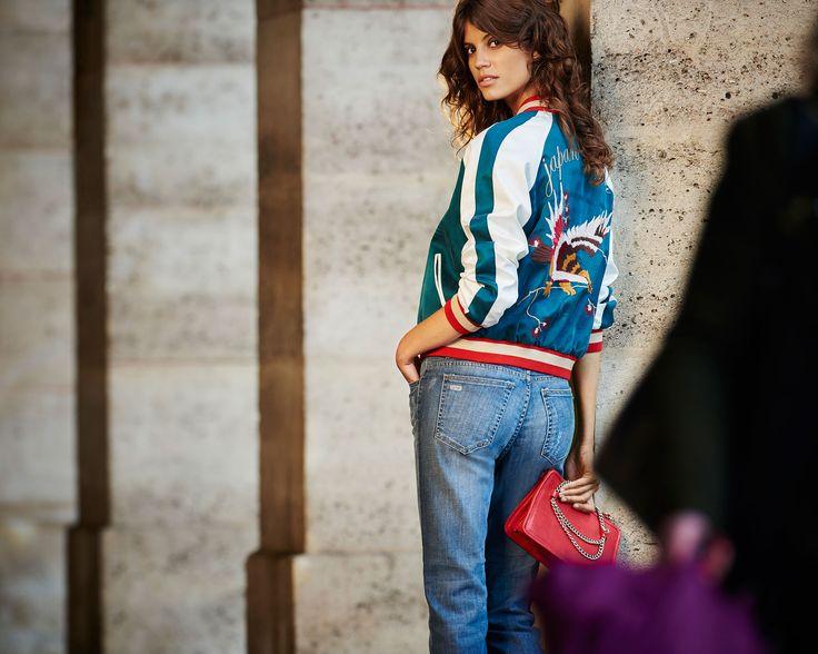 uma campaña primavera verano 17 campera souvenir jacket jean denim cropped mahelie cartera clutch estela antonina petkovic