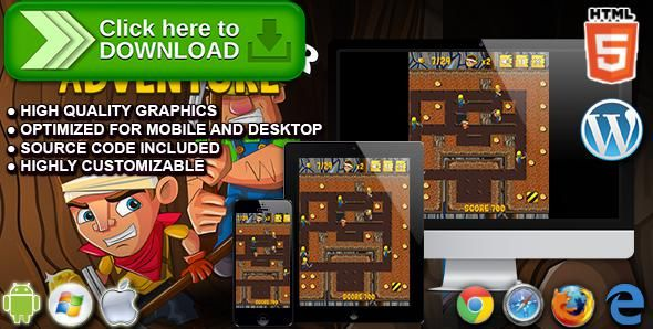 [ThemeForest]Free nulled download Nugget Seeker Adventure - HTML5 Arcade Game from http://zippyfile.download/f.php?id=50008 Tags: ecommerce, admob, arcade, arcade game, classic game, classical game, digger, gold digger, gold miner, pac man, pac-man, retro game, scavenger, social share buttons, treasure hunt, wordpress