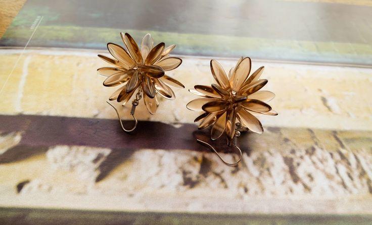 """Glass Earrings """"Sea Urchins"""""""