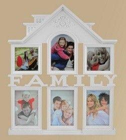 Fali fényképtartó, Family, ház (képkeret)