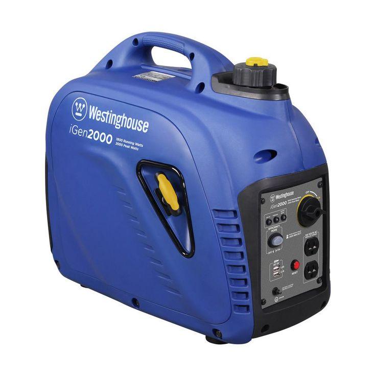 1800 Running Watt and 2000 Peak Watt Portable Inverter Generator - Gas Powered