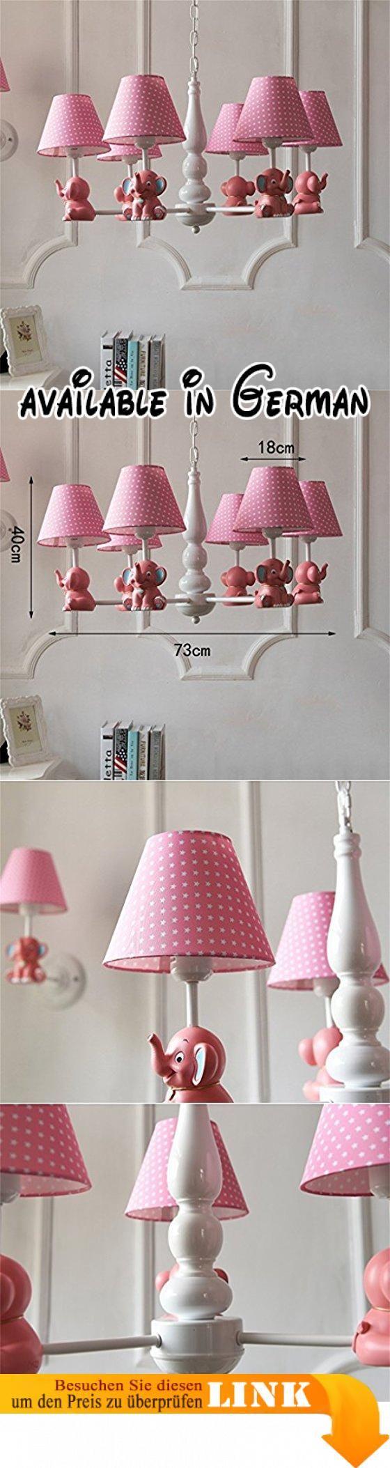 Nordic Pastorale SmElephant Einfache Kreative Europäische Junge Mädchen  Kinderzimmer Schlafzimmer Tuch LampIron Kronleuchter (Farbe: Pink 6 Kopf).