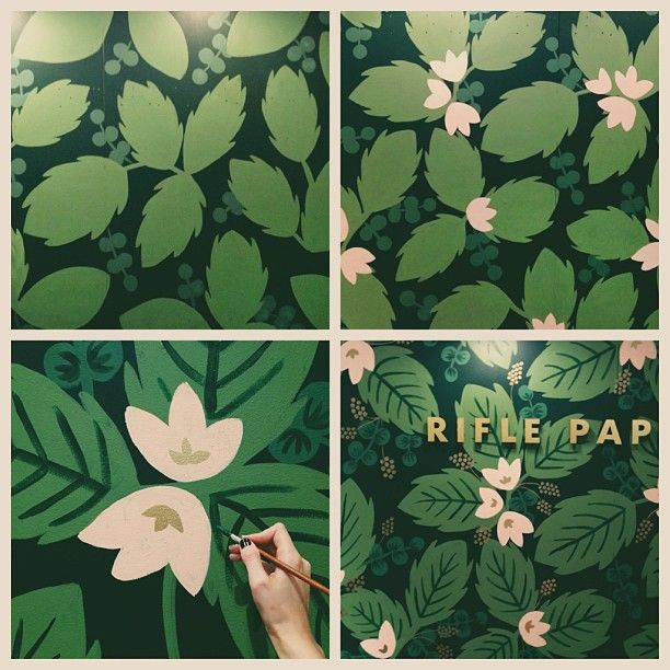 Mural in Progress, by Anna Bond of Rifle Paper Co.