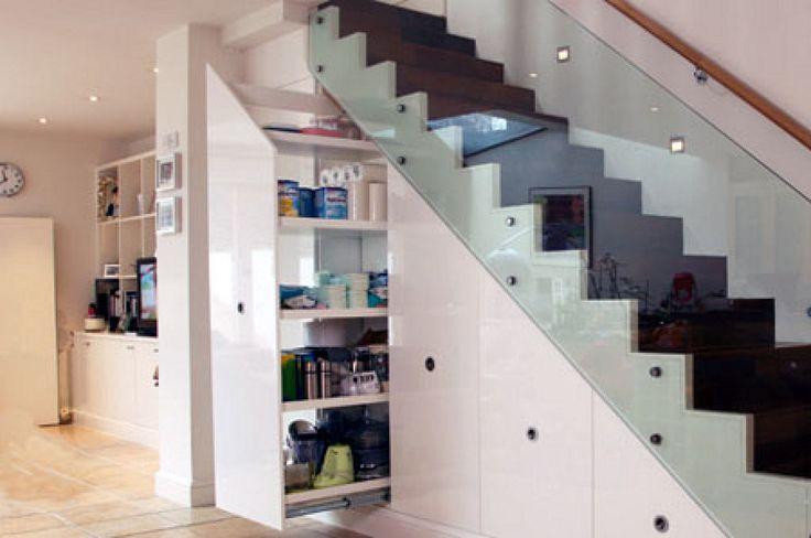 M s de 1000 ideas sobre peque os espacios de oficina en pinterest espacios de oficina - Soluciones escaleras poco espacio ...