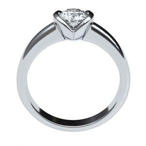 #anillos de #compromiso en #oroBlanco con #diamante
