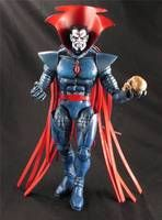 A Marvel Legends figure that has needed an update for some time.  Mr. Sinister was built from a Stryfe, 2 Mr Sinister Capes, Mr Sinister Lower legs and custom sculpted head.  Comes with Skull and flame effect!