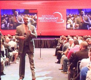 Earvin Magic Johnson at the NRA Show 2014