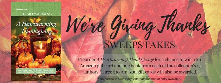 To celebrate the upcoming release of our  A Heartwarming Thanksgiving  anthology of 13 Thanksgiving-themed short stories and so...