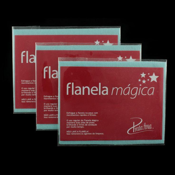 Flanelas Mágicas Prata Fina, para limpar joias de Prata de forma rápida e fácil!
