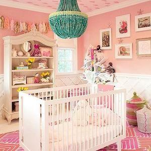 Pink Nursery, Contemporary, nursery, Domaine Home