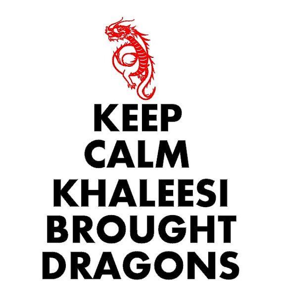 Game of Thrones Keep Calm Khaleesi Dragons tshirt