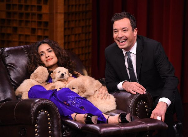 Salma Hayek Visits 'The Tonight Show Starring Jimmy Fallon'