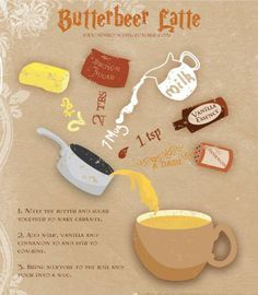 Butterbeer Latte. Not that I necessarily know the Harry Potter reference but…