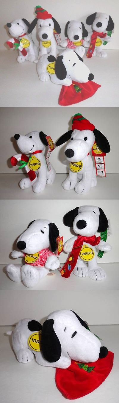Peanuts Gang 773: New Snoopy Plush Set Lot Celebrate 60 Years 1950-1990 Christmas Peanuts Gang -> BUY IT NOW ONLY: $38.95 on eBay!
