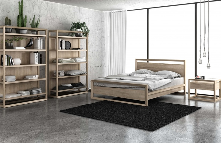 The Box collection by Huppe, shown in white wash oak.