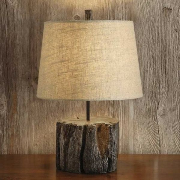 nachttischlampe kreative deko ideen aus baumstumpf selber machen baumstumpf pinterest. Black Bedroom Furniture Sets. Home Design Ideas