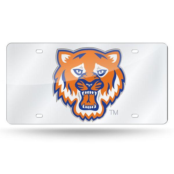Sam Houston State Bearkats Laser Cut License Plate - Silver Mirror