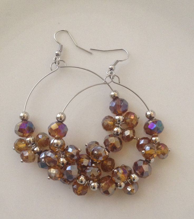 Samantha Fire Polished Beaded Earrings Comes in 5 Colors #jewelry