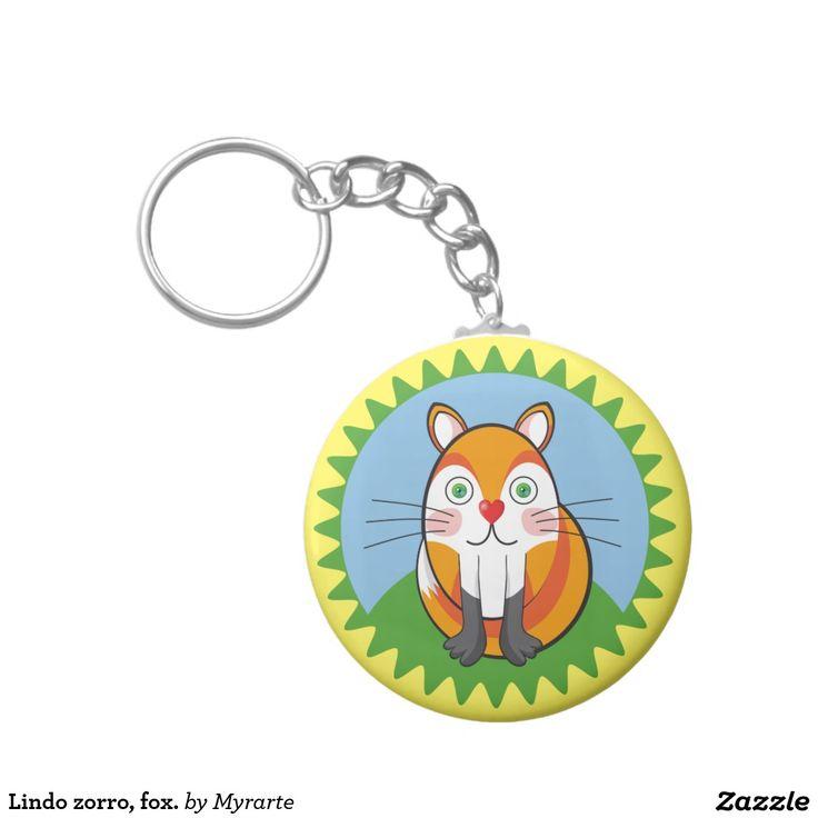 Lindo zorro, fox. Producto disponible en tienda Zazzle. Product available in Zazzle store. Regalos, Gifts. Link to product: http://www.zazzle.com/lindo_zorro_fox_basic_round_button_keychain-146015901506841417?CMPN=shareicon&lang=en&social=true&rf=238167879144476949 #llavero #KeyChain #zorro #fox