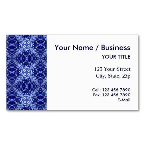 blue pattern business card