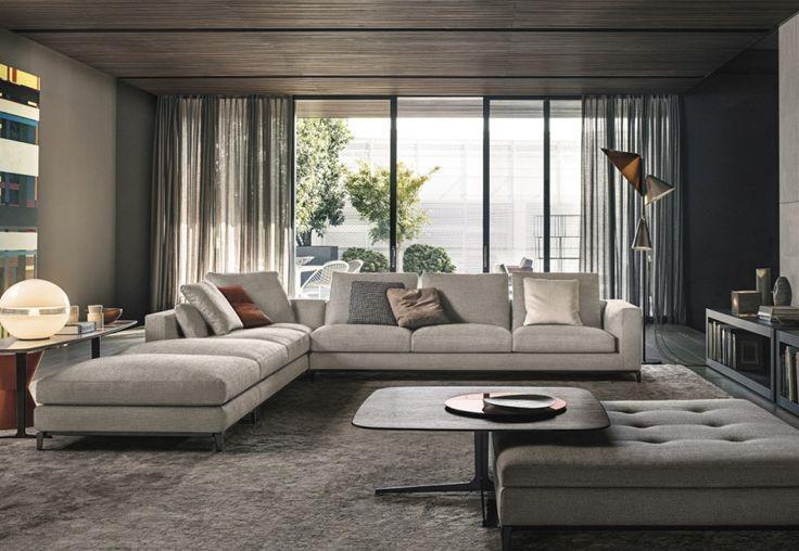 Minotti, design per la casa - sistema di sedute Andersen, disegnato da Rodolfo Dordoni