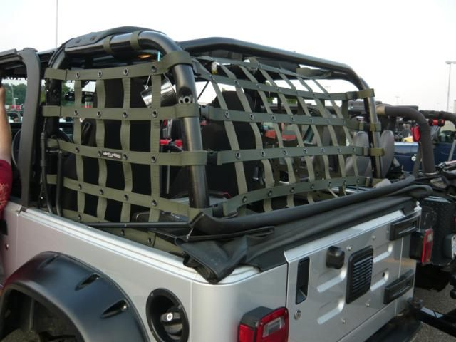 Dirtydog 4X4 Jeep Accessories - Netting for Jeep Wrangler TJ 1997-06 Colors