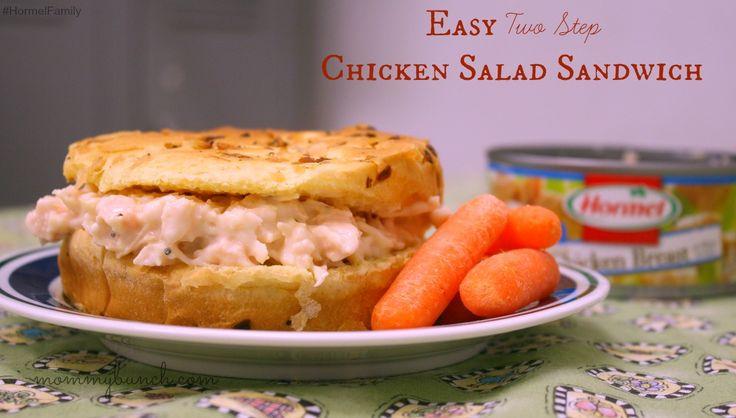 Super tasty and simple chicken salad sandwich!